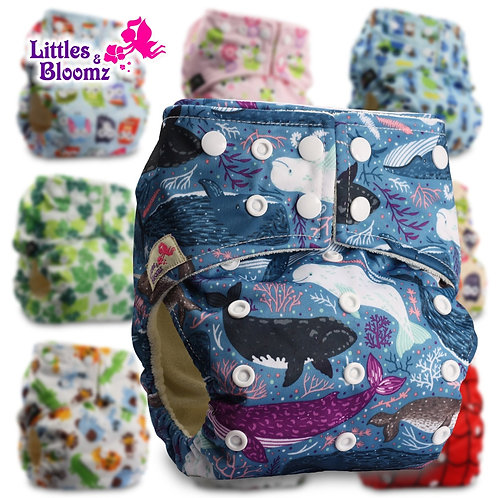 [Littles&Bloomz] BAMBOO Washable Cloth Nappy Baby Diaper Pocket Nappy Cloth