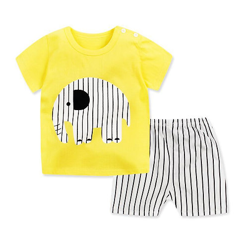 Newborn Clothing Set Casual Summer Baby Set Kids Short Sleeve Sports Set Tshirt