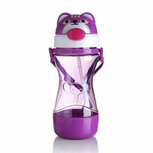 450ML Baby Cartoon Drink Water Straw Cup Kids Cute Juice Training Bottle Cups