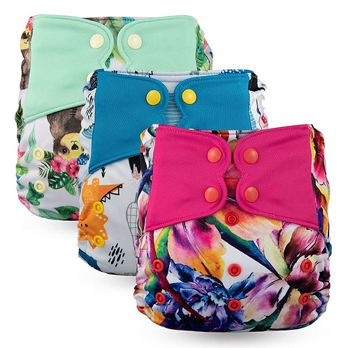 New Arrival High Quality Snap Pocket Diaper - Suede Cloth Inner Waterproof