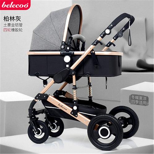 Luxury Stroller 2 in 1 High Landscape Baby Prams for Newborns Travel System