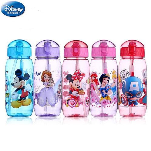 450ml Disney Cartoon Mickey Mouse Children's Plastic Cup Straw