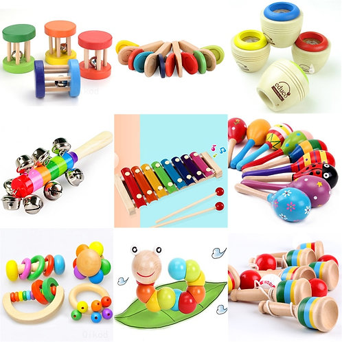 Baby Clapper Montessori Educational Toy Wooden 3D Puzzle Sound   Wooden Sensory