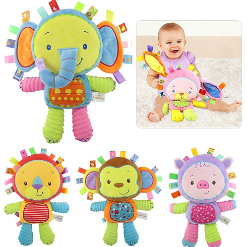 8 Styles Baby Toys 0-12 Months Appease Ring Bell Soft Plush Educational Infant