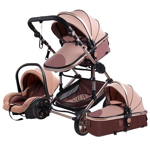 Baby Stroller 3 in 1 Newborn Baby Stroller High Landscape Stroller Baby