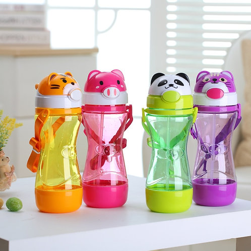 320ml/450ml Baby Kids Straw Cup Drink Water Cup With Handle Cute Water