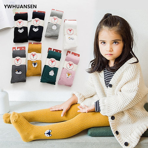 Spring Cute Animal Baby Girl Winter Clothes Autumn Knitted Children Pantyhose