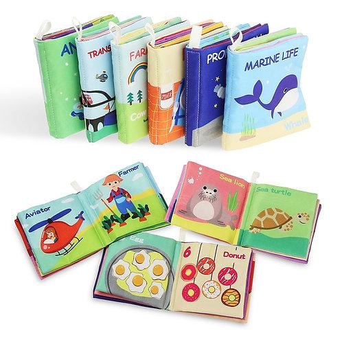 Newborn Baby Soft Cloth Books Rustle Sound Rattles Toy Quiet