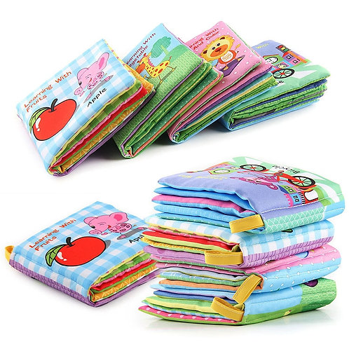 2019 Baby Rattles Mobiles Toy Soft Animal Cloth Book Newborn Stroller Hanging