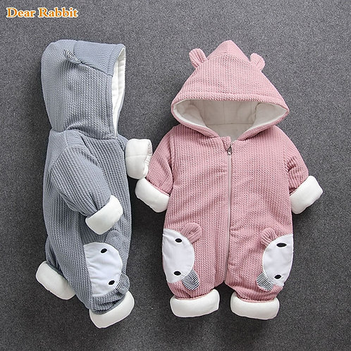 2020 New Russia Baby Costume Rompers Clothe Cold Winter Boy Girl Garment Thicken