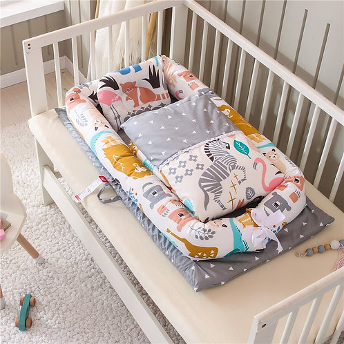 Portable Baby Nest Bed With Quilt Blanket Infant Nursery Carrycot Co Sleeper Bed