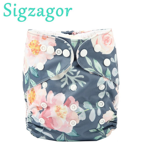 [Sigzagor] 2020 NEW Baby Pocket Cloth Diaper Nappy,Reusable,Washable,Adjustable
