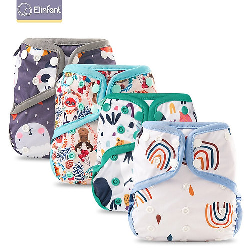 Elinfant Washable Cloth Baby Diaper Cover Pul Waterproof Adjustable Resuable