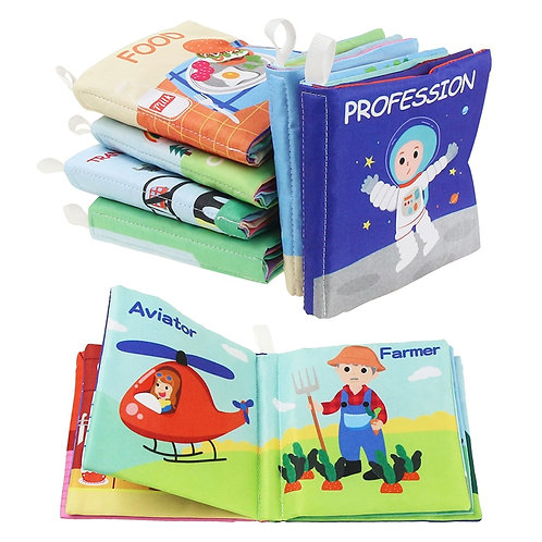 2020 New Arrival Baby Soft Cloth Books Educational Toy Rustle Sound Infant