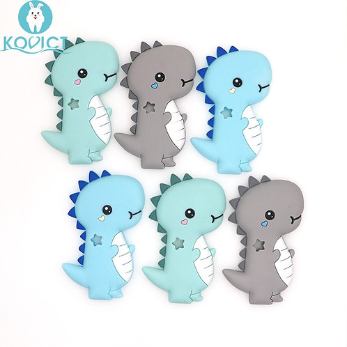 Kovict BPA Free 1PC Dinosaur Silicone Baby Teether Rodent Baby Teething Toys