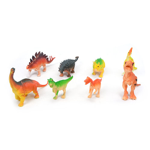 Solid Simulation of Dinosaurs; 8 Pcs