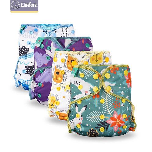 Elinfant Eco-Friendly Baby Cloth Diaper Reusable Heavy Wetter Hybrid  AIO/AI2
