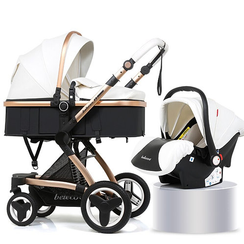 Luxury Baby Stroller 3 in 1 With Car Seat High Pram for Newborns Travel System