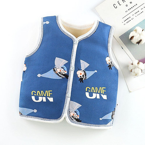 2020 Casual Kids Vest Baby Winter Sleeveless Coats Infant Newborn Clothing Warm