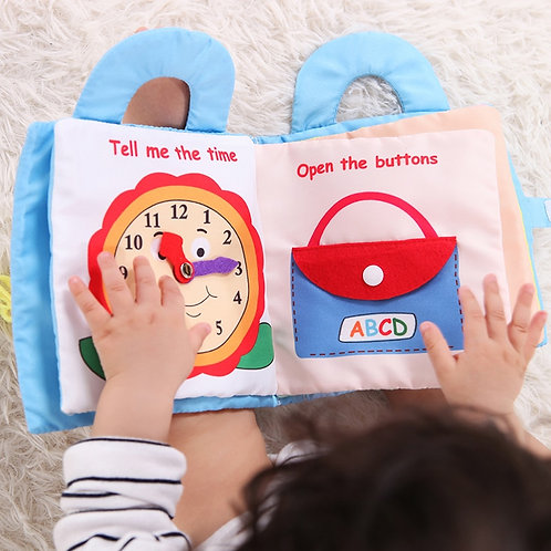 Infant Cloth Book Cartoon Pattern Baby Soft Activity Crinkle Cloth Books