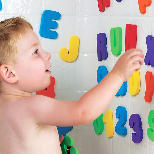 36Pcs A-Z Letters and 0-9 Numbers Baby Kids Children Foam Floating Bath Tub