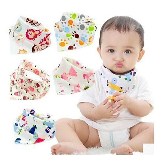 Baby Bibs Triangle Cotton Cartoon Child Baberos Bandana Bibs Babador Dribble