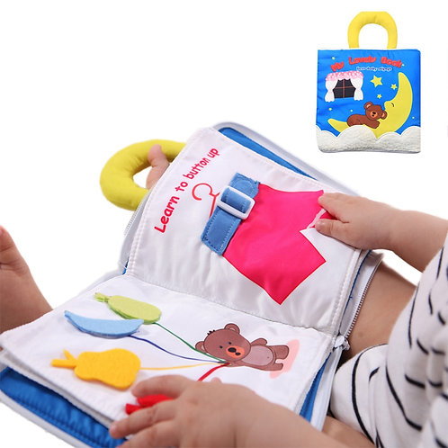 Baby Cloth Book Soft Washable 3D Parent-Children Interactive My First Book