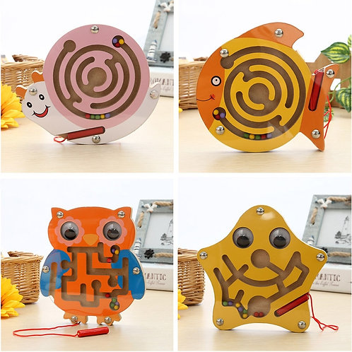 Baby Wooden Toy Montessori Toys Mobile Children Magnetic Maze Balance Board