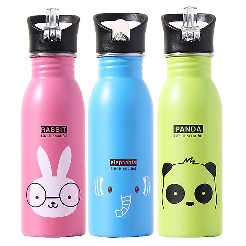 500ML Children's Stainless Steel Sports Water Bottles Portable Outdoor Cycling