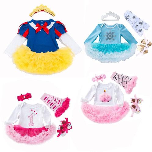 Baby Girl Clothing Set Infant Christmas Dress Bebes Lace Ruffle Tutu Dress Girls