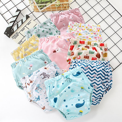 Washable Reusable Baby Ecological Diapers Tetra Pocket Cloth Diaper Cover Muslin