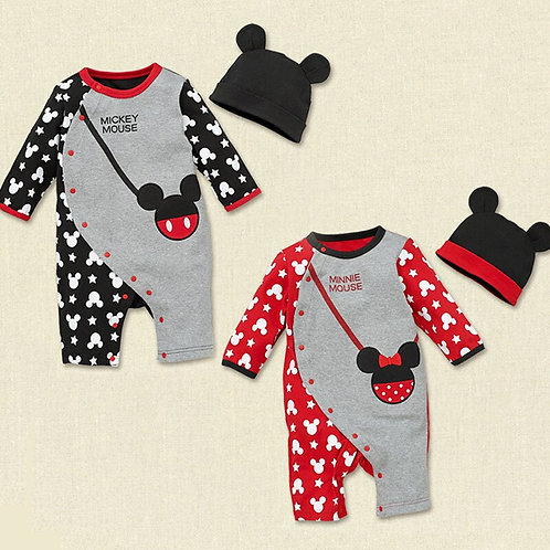 Mickey Baby Boy Clothing Baby Rompers Newborn Disney Girl&Boys Long Sleeve