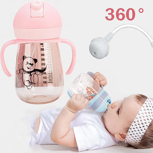 1PC 360 Degree Can Be Rotated Magic Cup Baby Learning Drinking Cup LeakProof