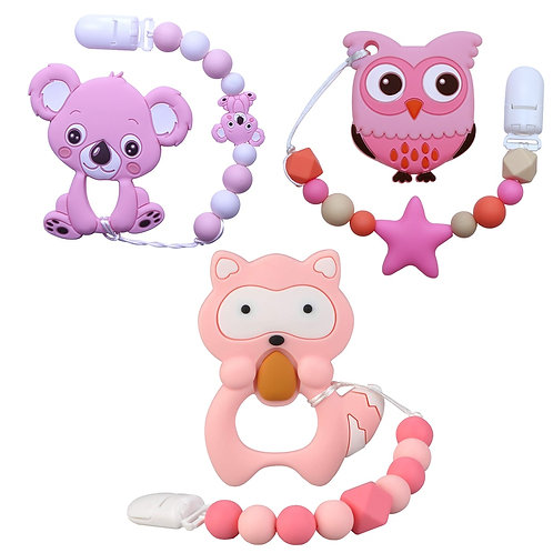 Joepada Baby Teething Necklace Lovely Koala Owl Horse Cookies Baby Teether Molar