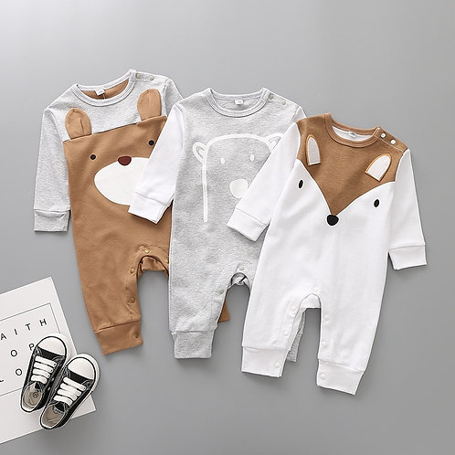 2020 Cute Animals Spring Baby Romper Newborn Baby Clothes Kids Long Sleeve