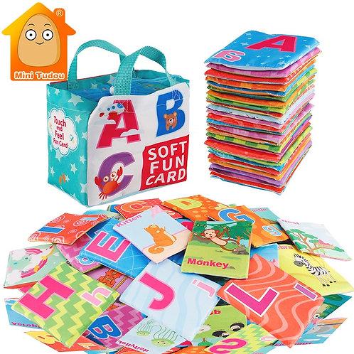 Newest Flashcards Learning Language Baby Book Toy 26PCS Soft Alphabet Cards