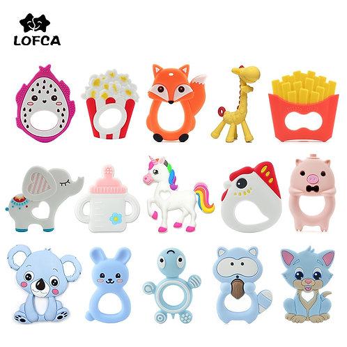 LOFCA 1PC Baby Teethers Cartoon Animal Baby Teething Toy Penguin Silicone
