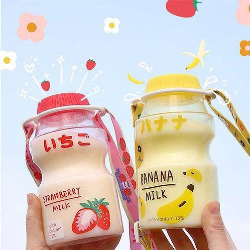 480ml Plastic Water Bottle Tour Drinking Bottle Yakult Shape Cute Kawaii Milk