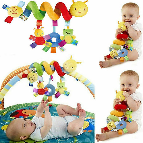 Cute Activity Musical Spiral Crib Stroller Car Seat Travel Hanging Toys Baby