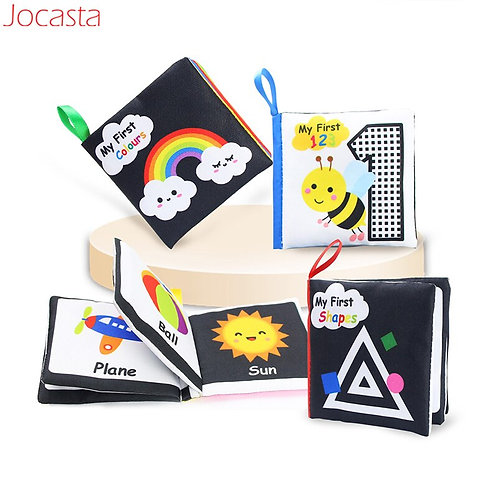 Baby Cloth Books in English Soft Toy Books for Little Kids Educational Toys
