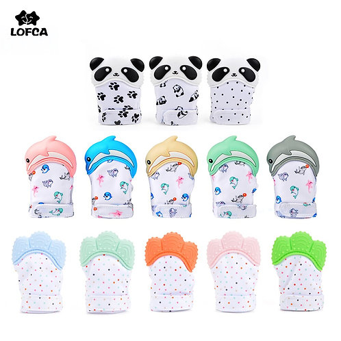 LOFCA 1PC Colorful Baby Teethers BPA Free Panda Toddler Teething Toys Dolphin