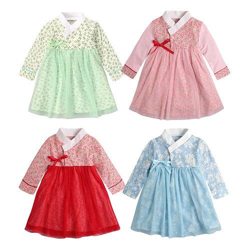 Baby Girls Dress Princess Dress Halloween Cosplay Costume Long Sleeves