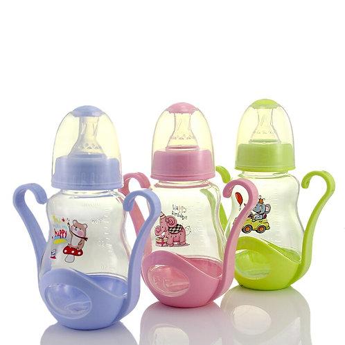 160ml Cute Baby Bottle Infant Newborn Children Learn Feeding Drinking Handle