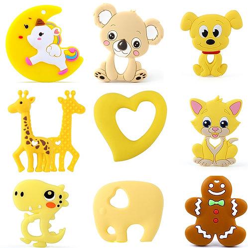 Keep&Grow 1pcs Baby Animal Silicone Teethers Dog Dinosaur Koala Baby Teething