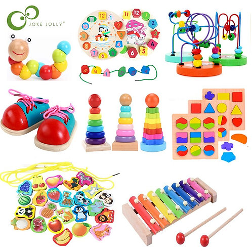 Montesorii Wooden Kids Education Toys Math Game Early Learning Baby Birthday