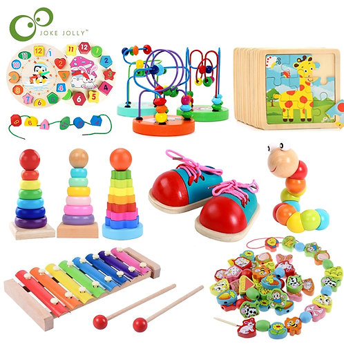 Baby Educational Toys Wooden Toys Montessori Early Learning Baby