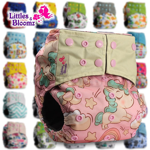 [Littles&Bloomz] Baby Washable Reusable Pocket Cloth Nappy Bamboo Charcoal
