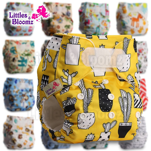 [Littles&Bloomz] One Size Reusable Cloth Nappy Washable Waterproof  Baby Pocket