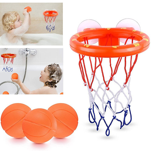 Toddler Bath Toys Kids Shooting Basket Bathtub Water Play Set for Baby Girl Boy