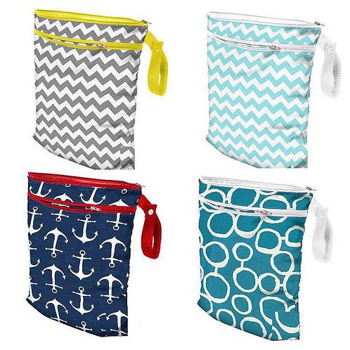 OhBabyKa Baby Diaper Bag Printed Double Zippered Wet/Dry Bag Waterproof